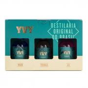 Kit Gin Trilogia YVY Premium Mar Terra Ar 50ml