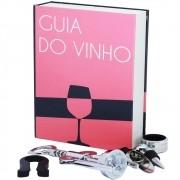 Kit para Vinho Cor Rosa Com 5 Pecas Guia do Vinho