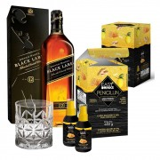 Kit 2 Penicillin + 1 Johnnie Walker Black Label 1L + 1 Copo Whisky Vidro