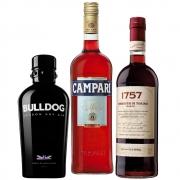 Kit Produtos Negroni Combo Campari Gin Bulldog e Vermute Di Torino