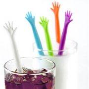Mexedor para Drinks Mão Afogada Decorativo 5 unidades 21cm