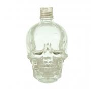 Mini Garrafa Vidro Skull Head Transparente 120ML