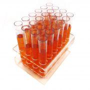 Suporte para 24 Tubos de Ensaio Shot Drink em Acrílico e tubos de brinde