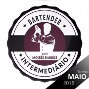 Vaga Curso Intermediário de Bartender Mixologia II  Maio 2018