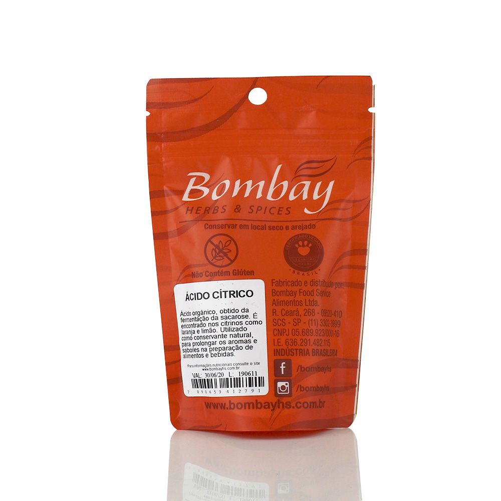 Ácido Cítrico 60g Bombay
