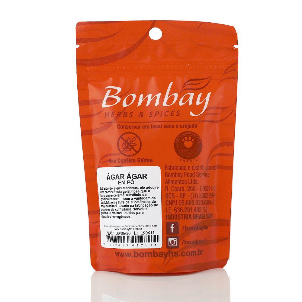 Ágar-ágar em Pó 40g - Bombay