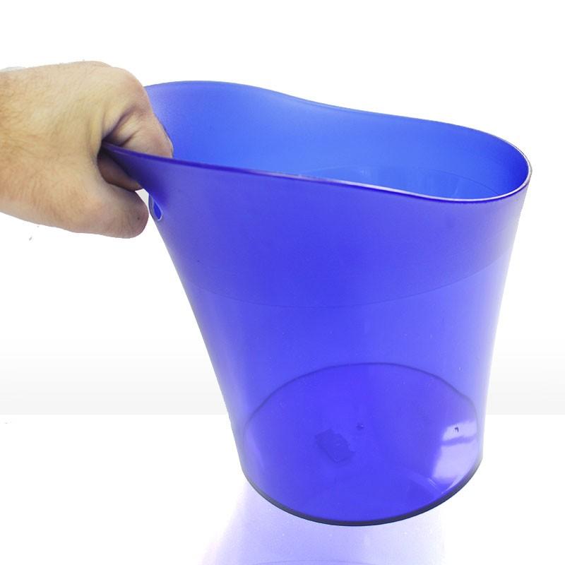 Balde de Gelo 4,5L Acrílico Azul