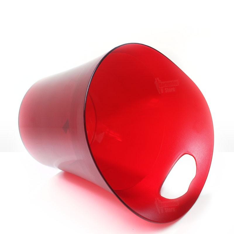 Balde de Gelo 4,5L Acrílico Vermelho
