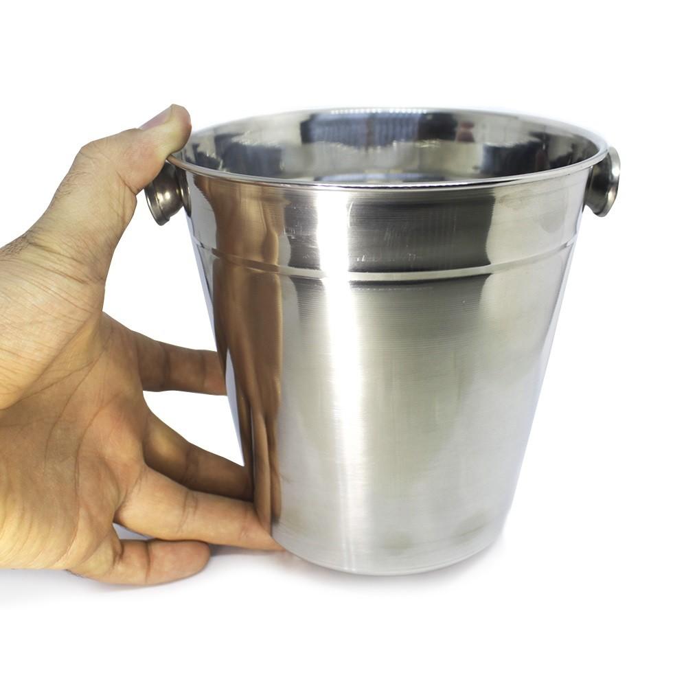 Balde de Inox Pequeno 1,4 Litros para Gelo ou Açúcar