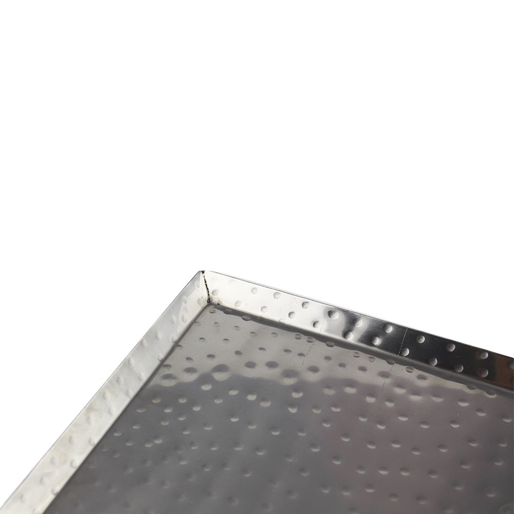 Bandeja Retangular de Inox Martelado Para Servir 60 CM x 19,5 CM
