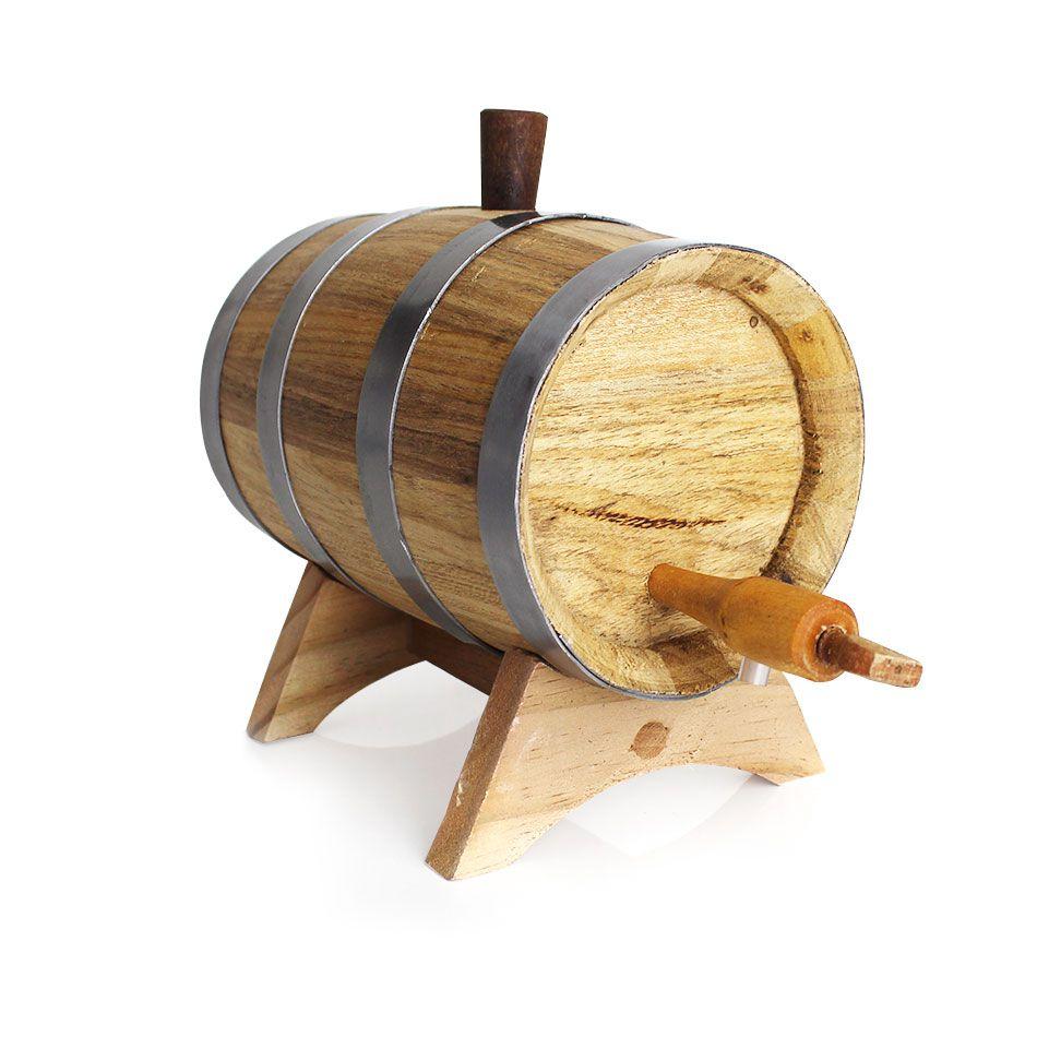 Barril Carvalho Europeu Pequeno 1L para Envelhecer Negroni Drinks Bebidas