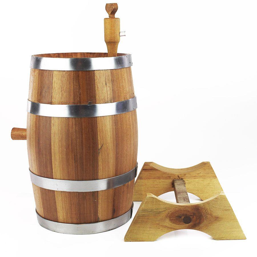 Barril de Jequitibá Rosa 2,2litros para Envelhecer Bebidas