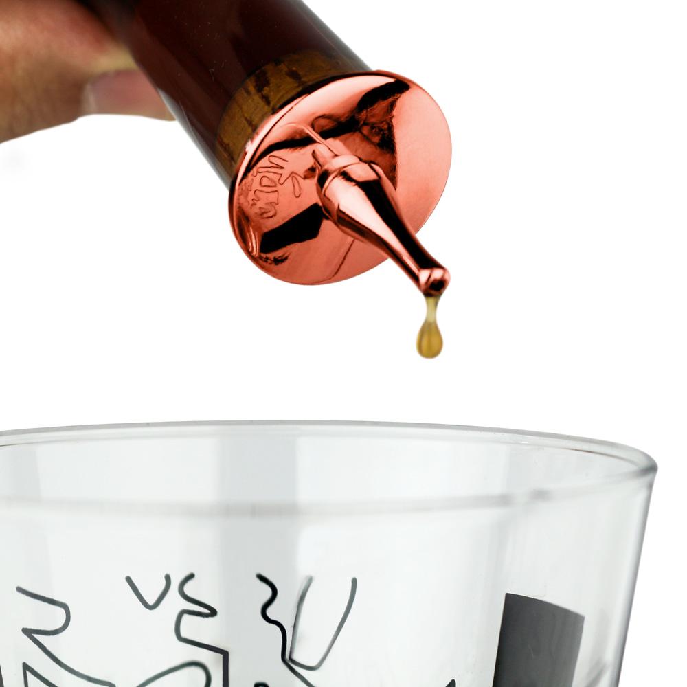 Biqueira de Dosagem em Zinco com Banho de Cobre para Garrafa de Bitter