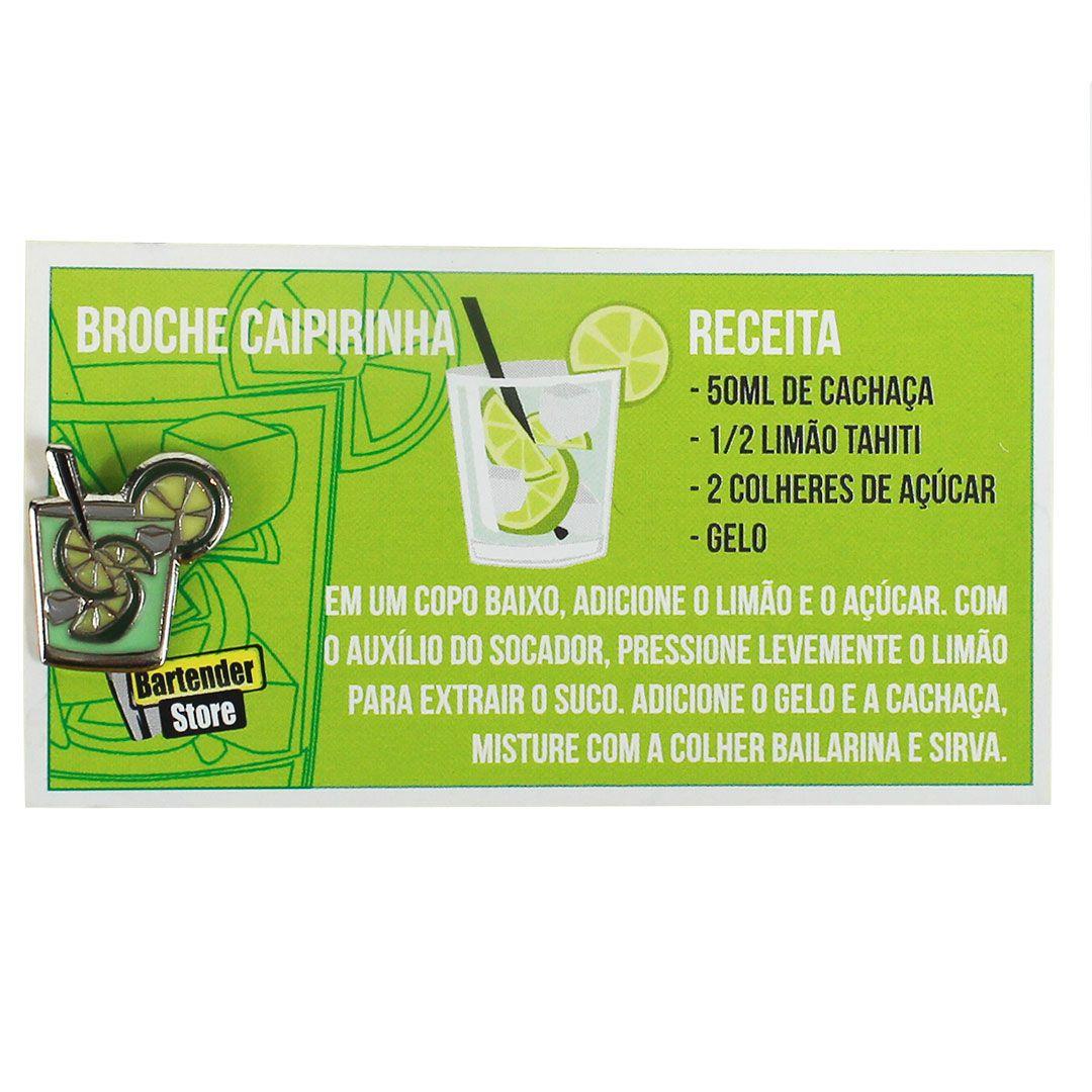 Broche Pin Coquetel Caipirinha