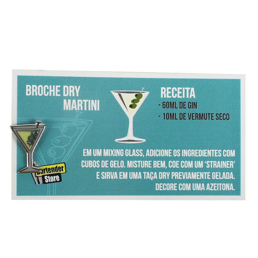 Broche Pin Coquetel Martini