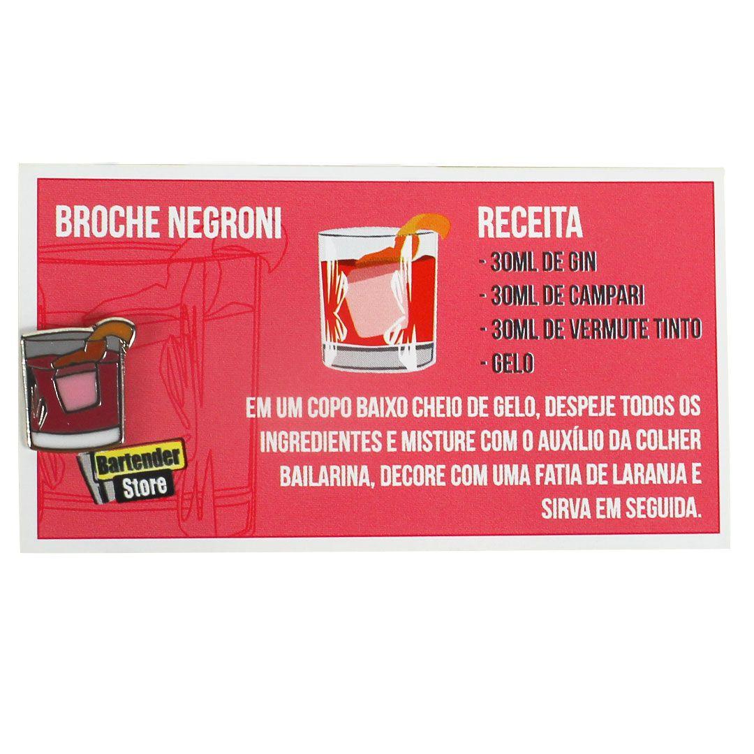 Broche Pin Coquetel Negroni