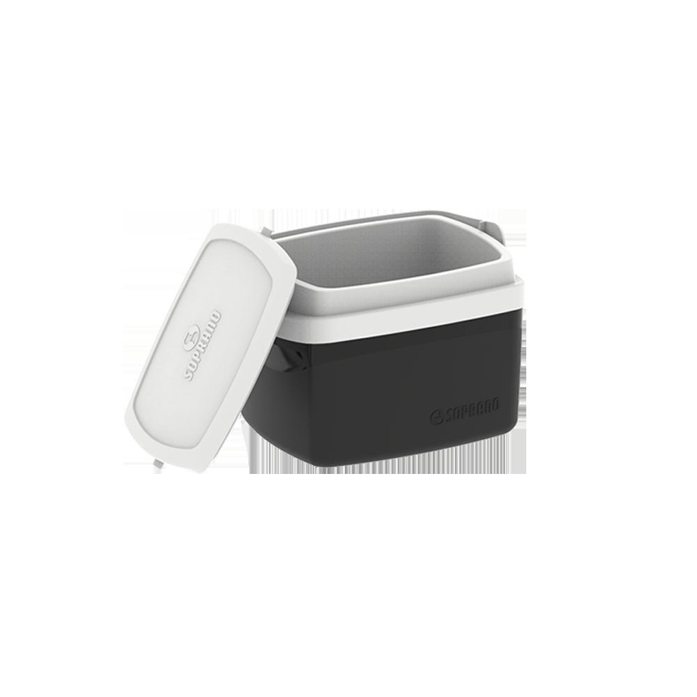 Caixa Térmica Preta Cooler 5 Litros Soprano