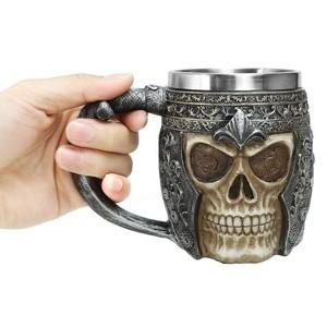Caneca Caveira Crânio de Guerreiro Drinks e Cerveja