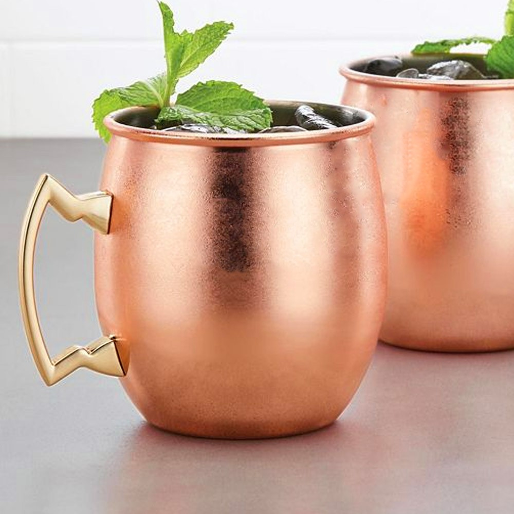 Caneca Cobreada Moscow Mule Lisa Luxo 500ml Stanly