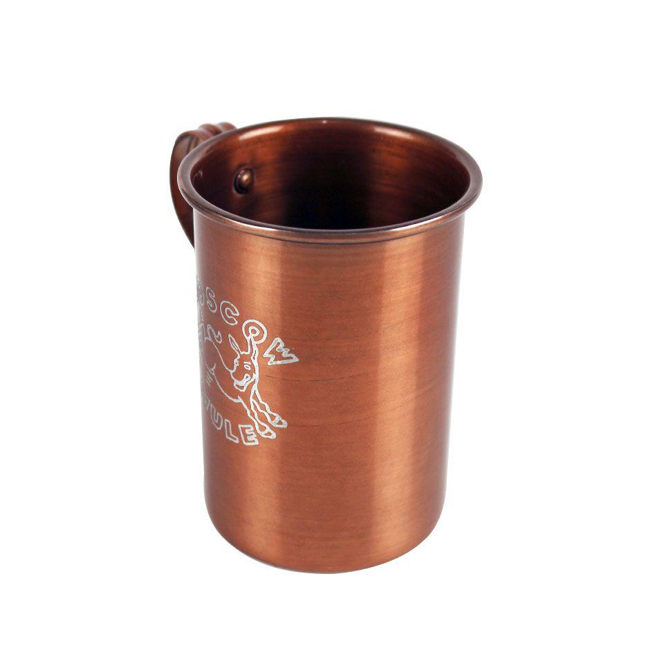 Caneca com Logotipo  Moscow Mule de Alumínio Pintado cor Cobre 375ml