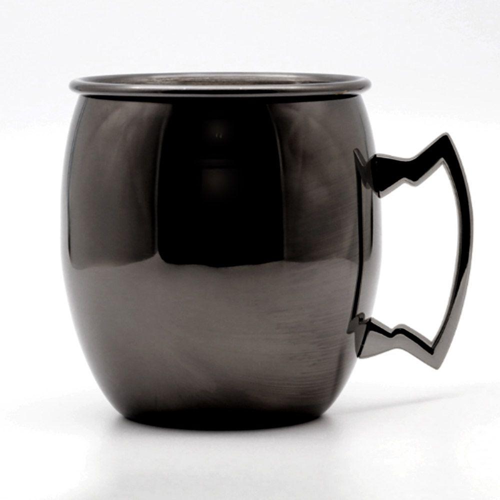 Caneca Moscow Mule Oval Black Titanium Luxo 550ml
