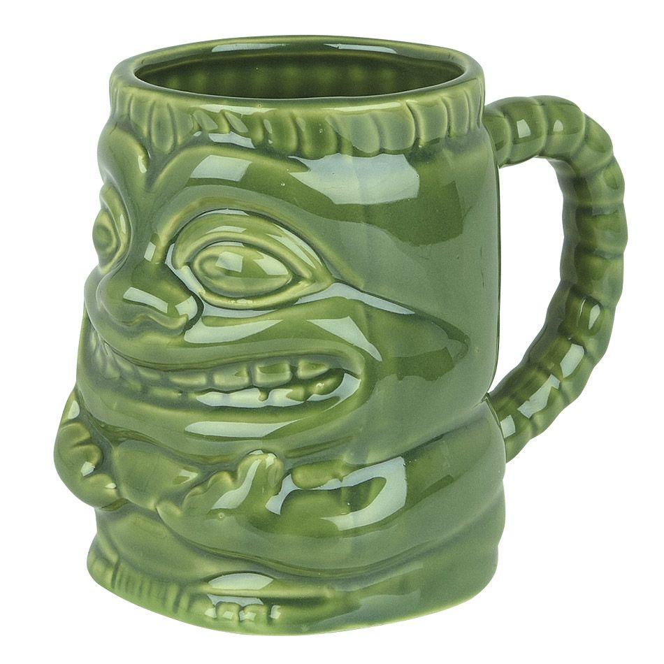 Caneca Tiki Mug Buba 425ml Cerâmica Verde