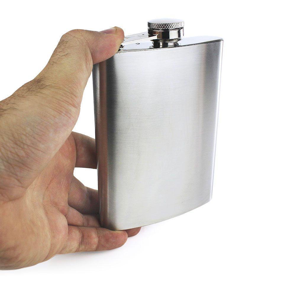 Cantil de Bolso para Whisky Bebidas Inox