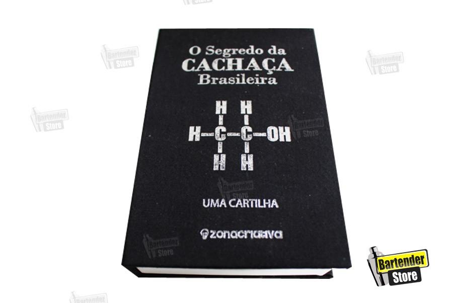 """Cantil Inox -  Livro Flash """"O Segredo da Cachaça"""""""