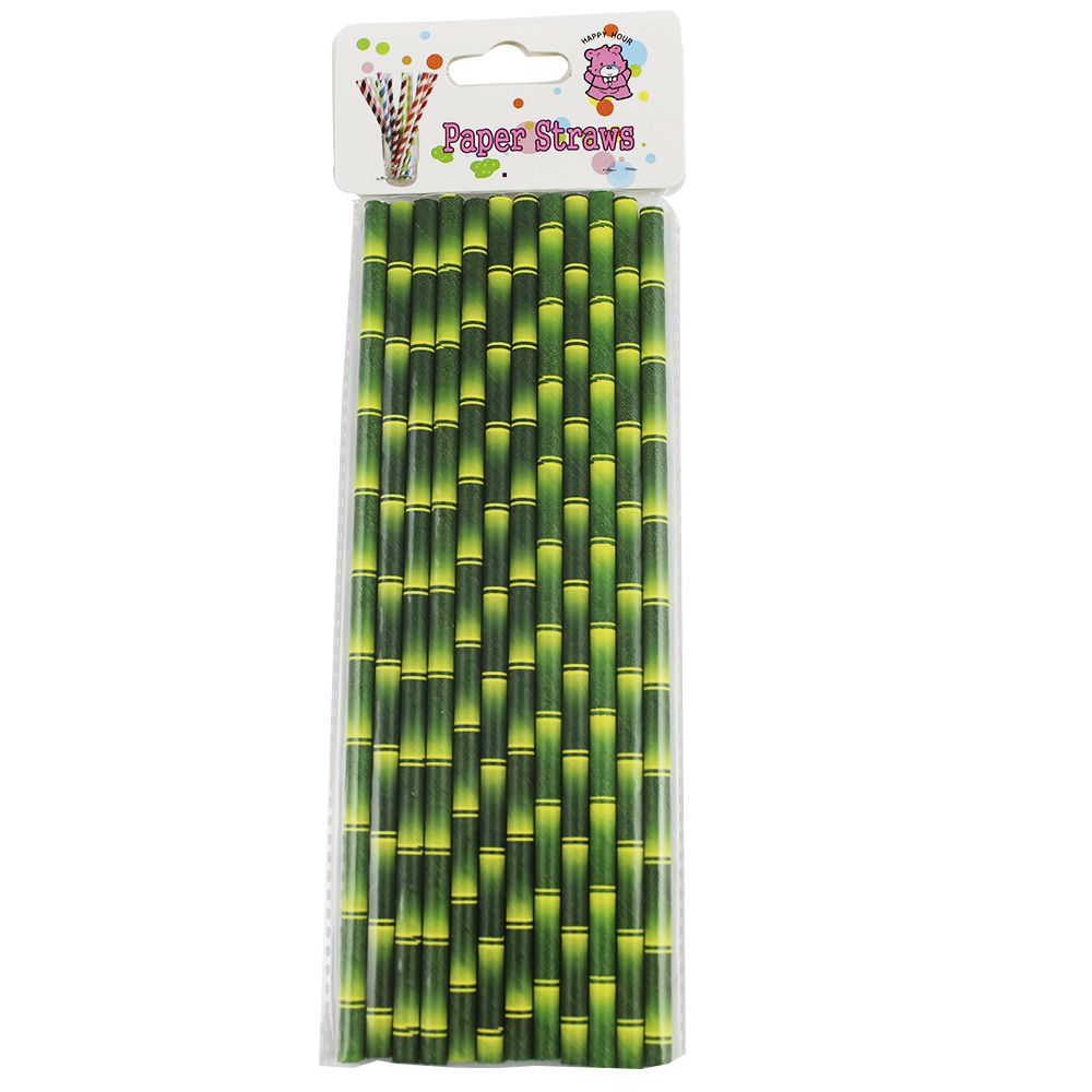 Canudo de Papel Bambu pct com 12 un