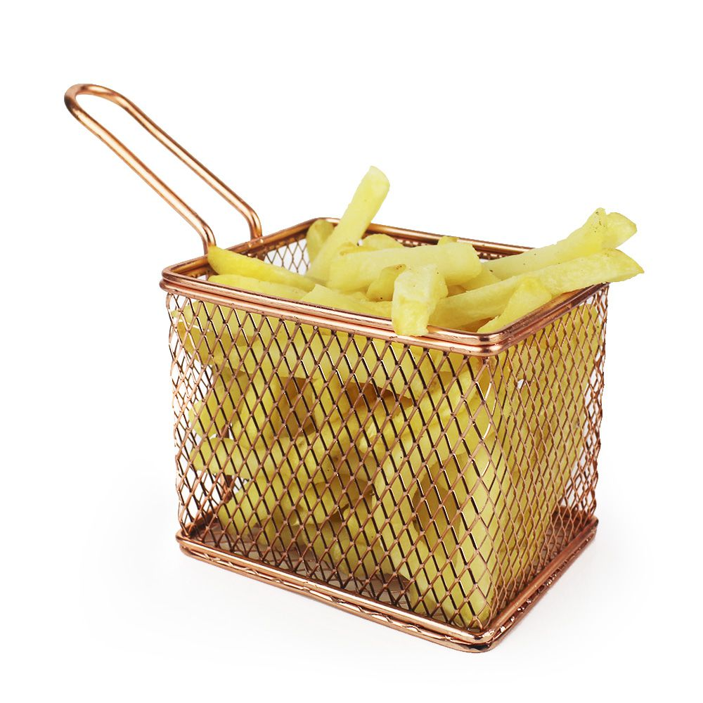 Cestinha Modelo Bronze Rose Cobre para Batata Frita e Porção