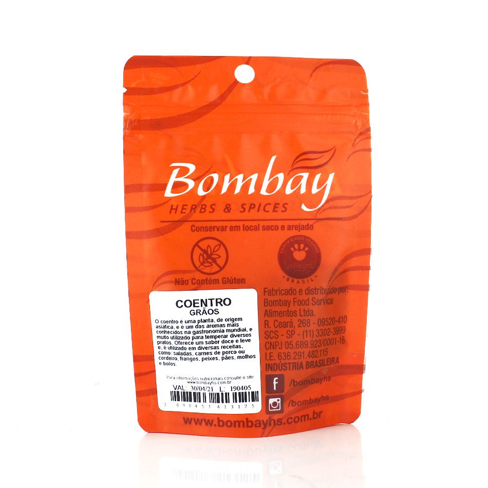 Coentro Grãos Bombay Pacote 15g
