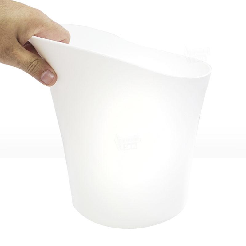 Balde de Gelo 4,5L Acrílico Branco