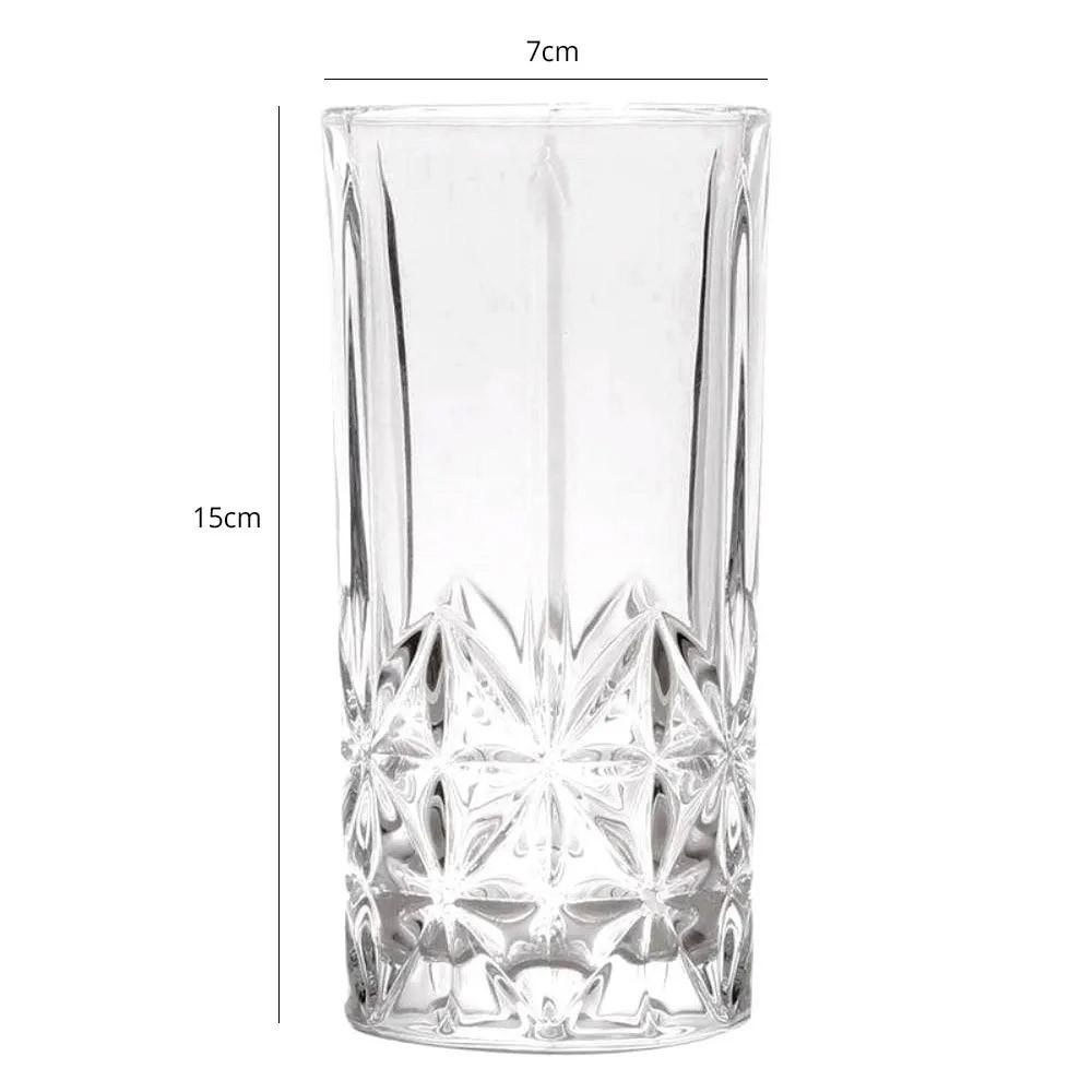Copo Alto Long Drink de Vidro 370ml Requinte