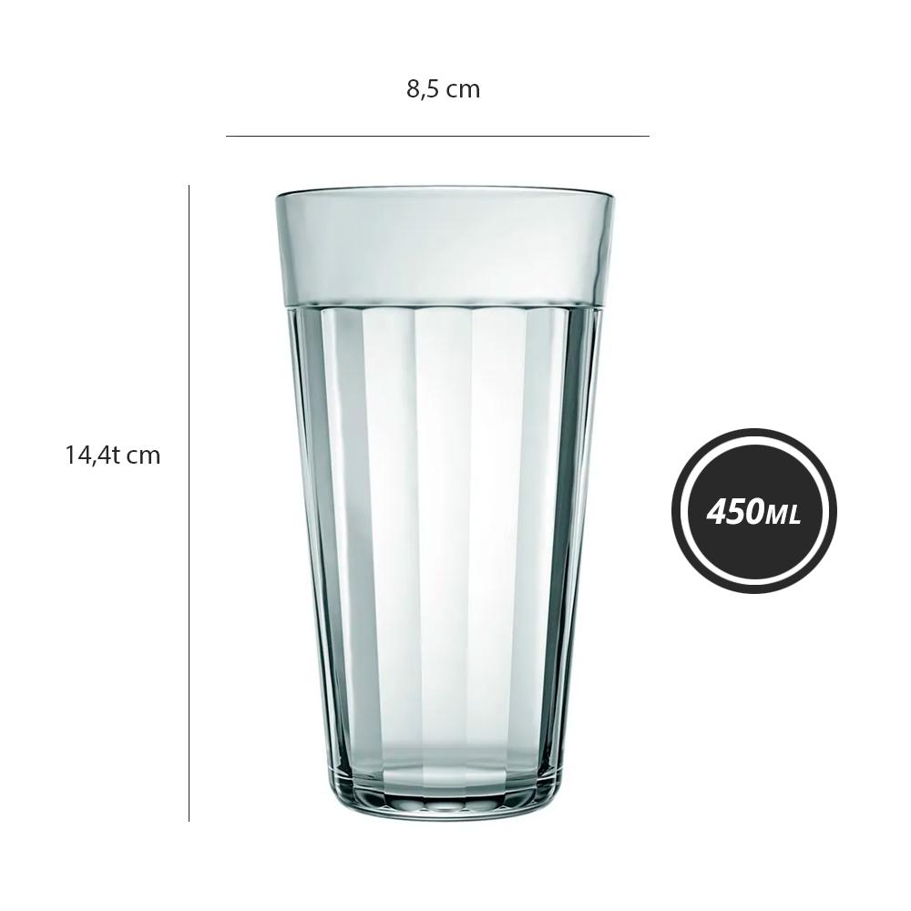 Copo Americano Long Drink 450ml Vidro Nadir