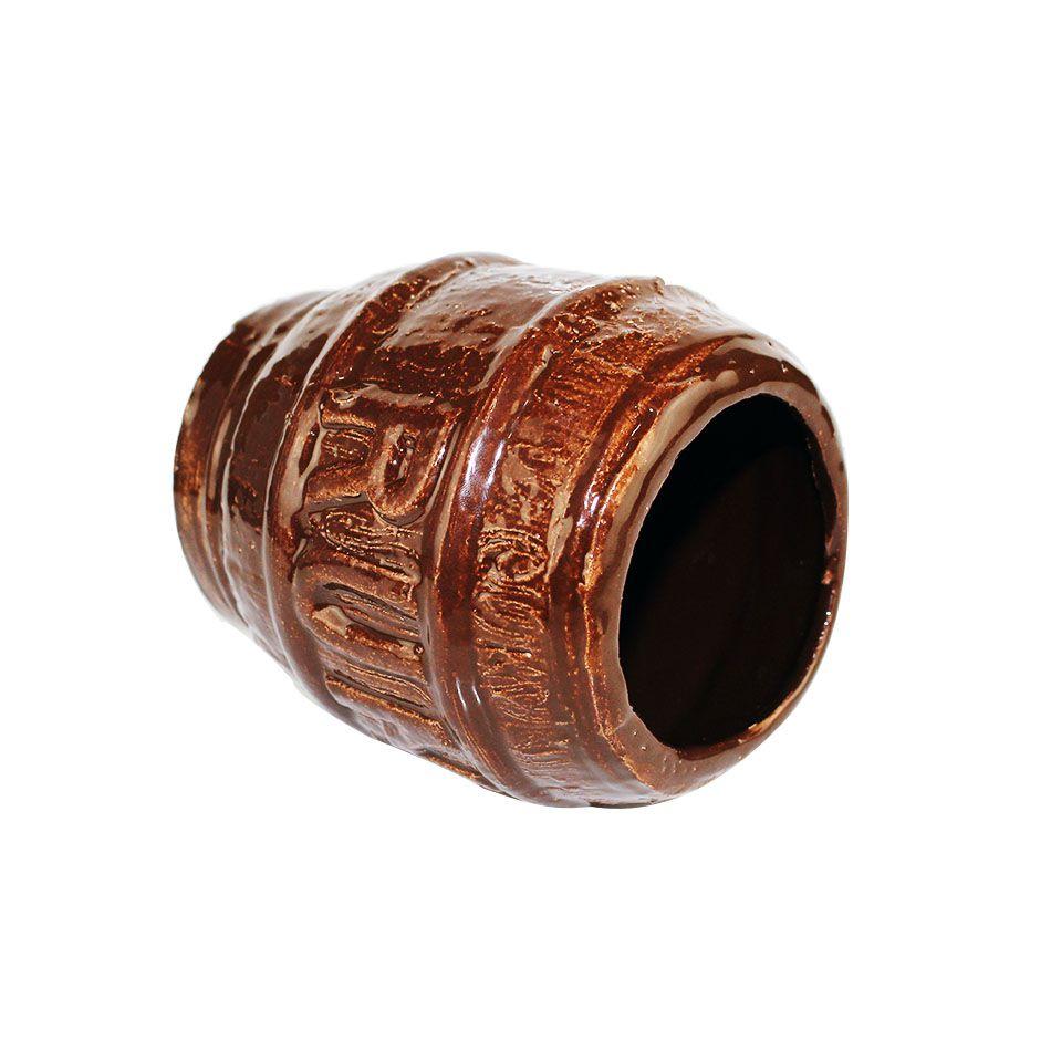 Copo Barril Tiki Marrom  Ceramica 500ml