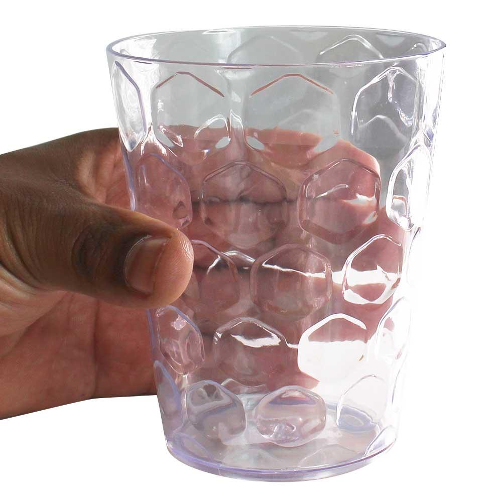 Copo Colmeia Poliestireno Transparente