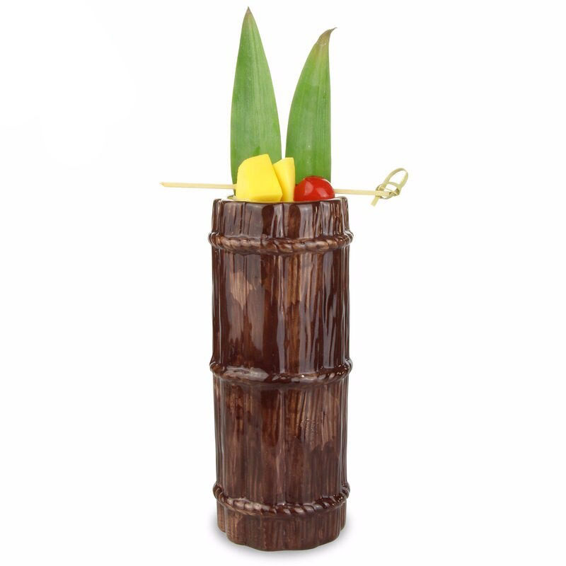 Copo De Ceramica Modelo Tiki Bamboo 470 ml