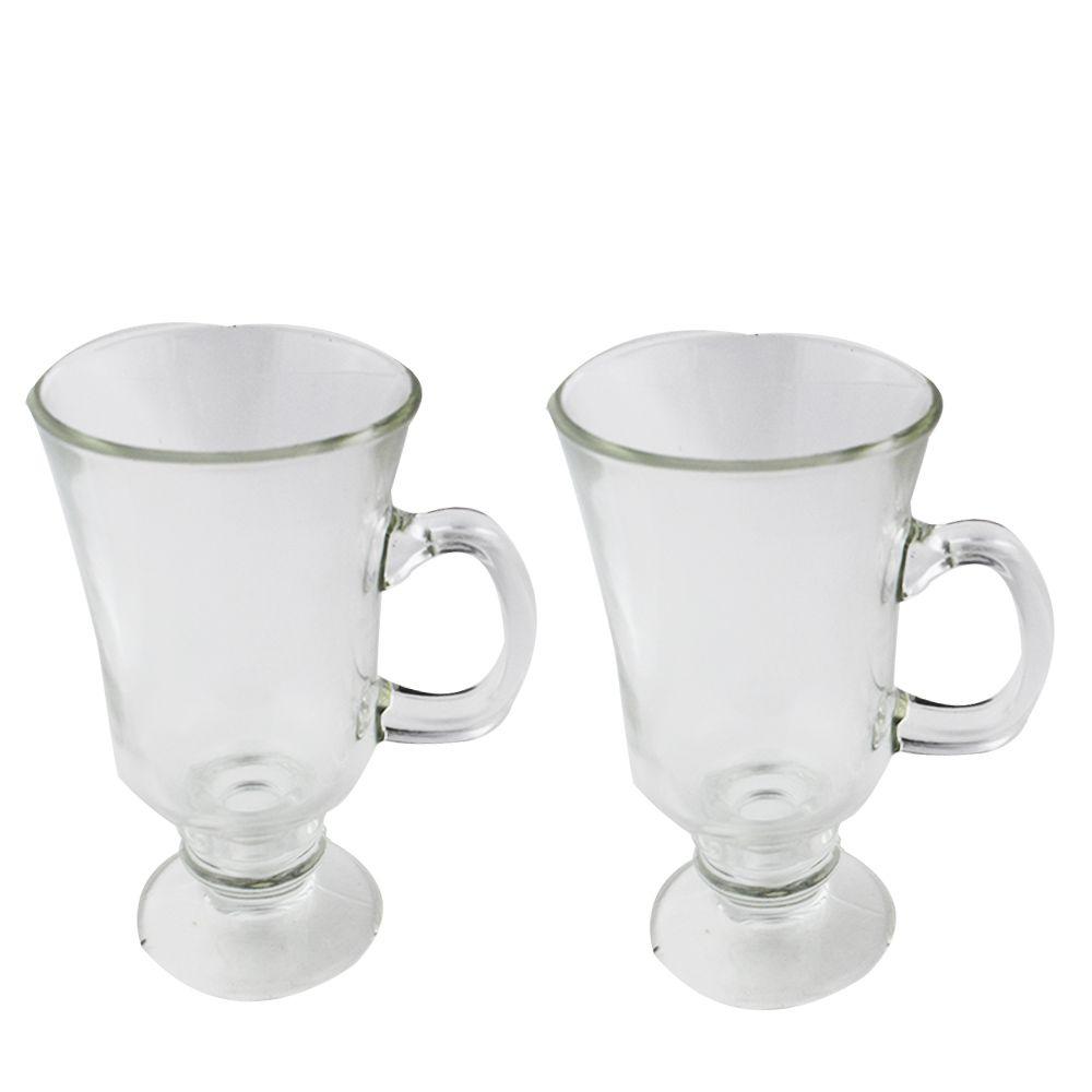 Copo de Vidro caneca para Irish Coffe kit 2 Unidades