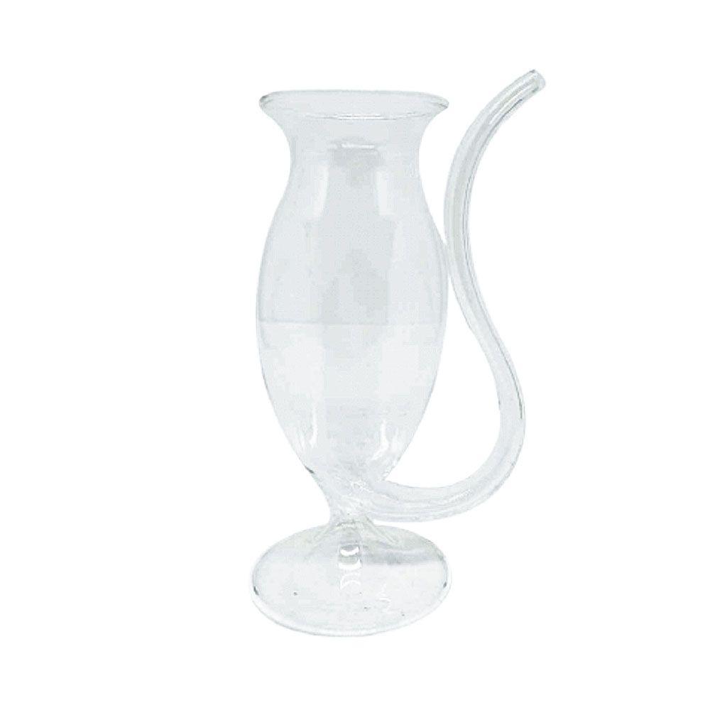 Copo de vidro Vampiro com canudo 300 ml