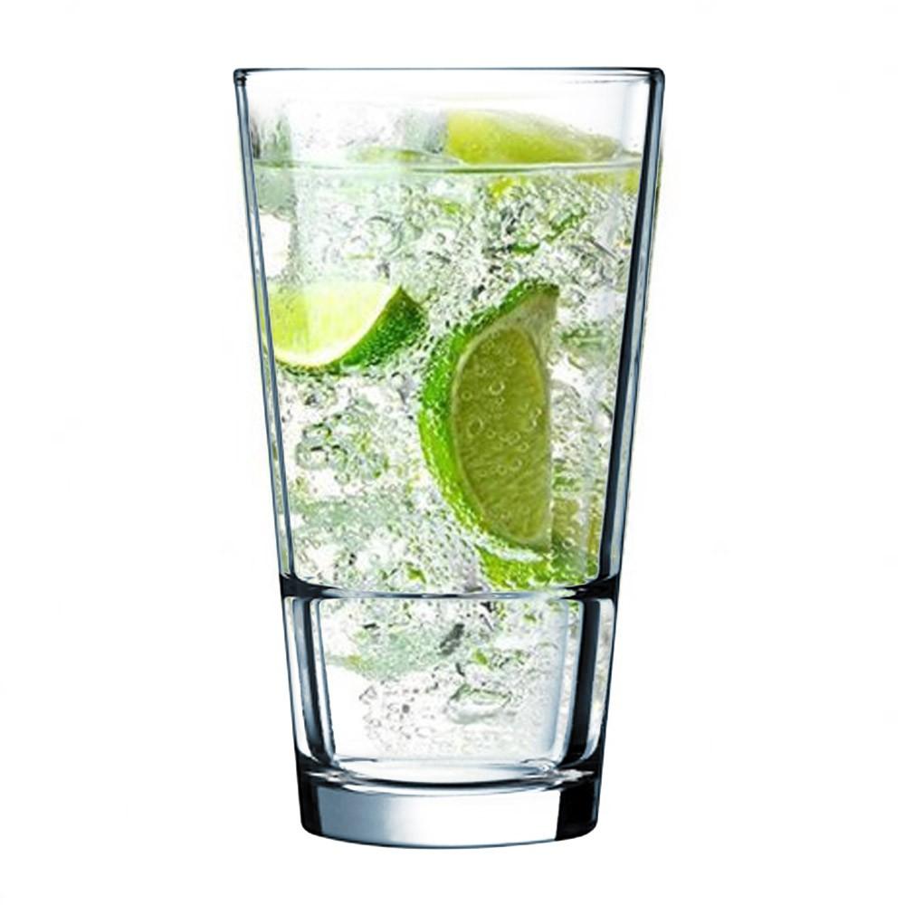 Copo de Vidro Long Drink Empilhável Stack-Up 400 ml Arcoroc France