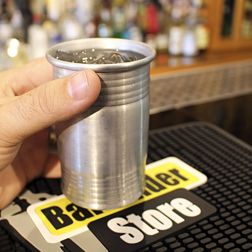 Copo Mint Julep 250ml Tambor Tank Drink Alumínio Natural