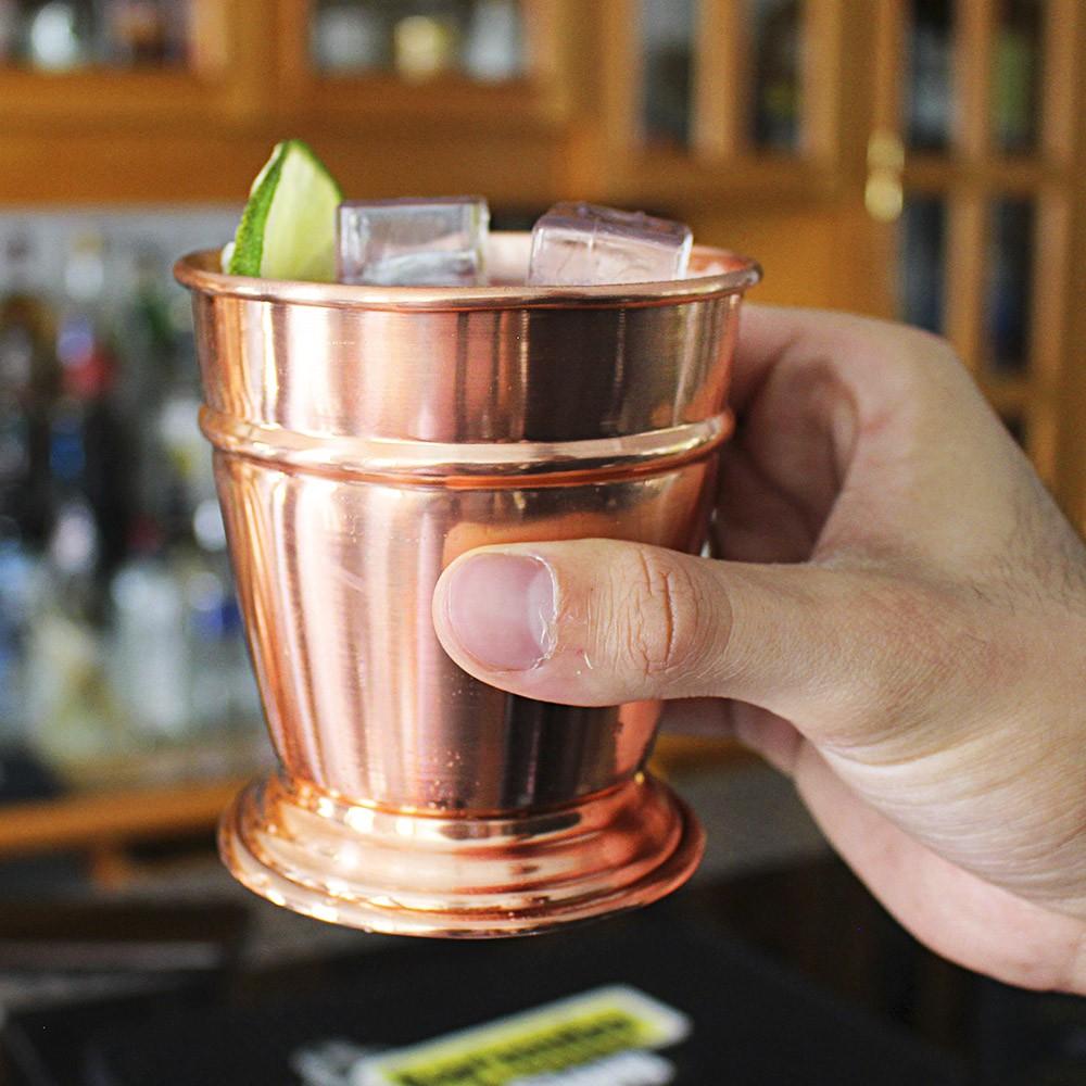 Copo Mint Julep de Cobre com Verniz 320 ml