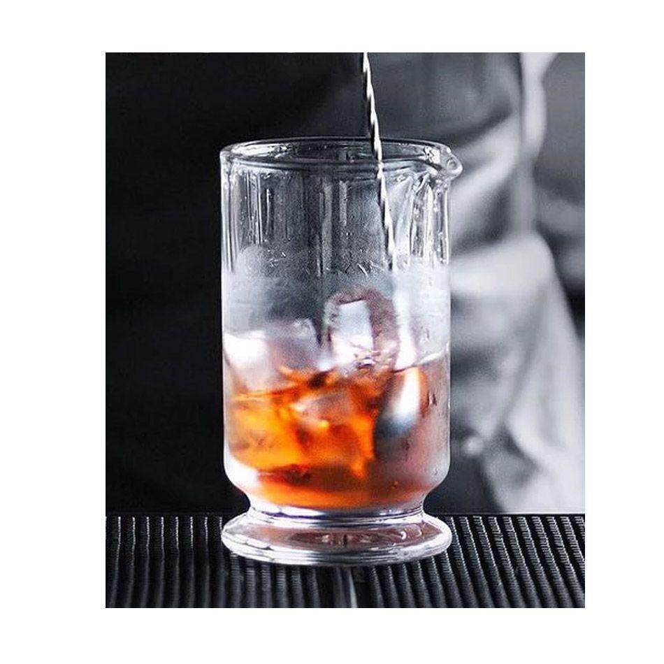 Copo Mixing Glass com Base Vidro 650ml Luxury