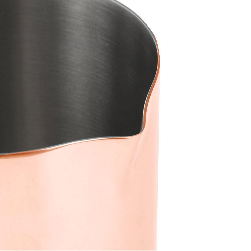Copo Mixing Inox Cobreado Polido Brilhante 500ml Pequeno