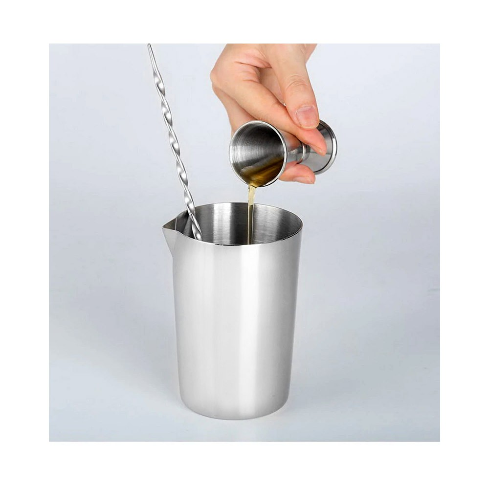 Copo Mixing Inox Polido Brilhante 500ml Pequeno