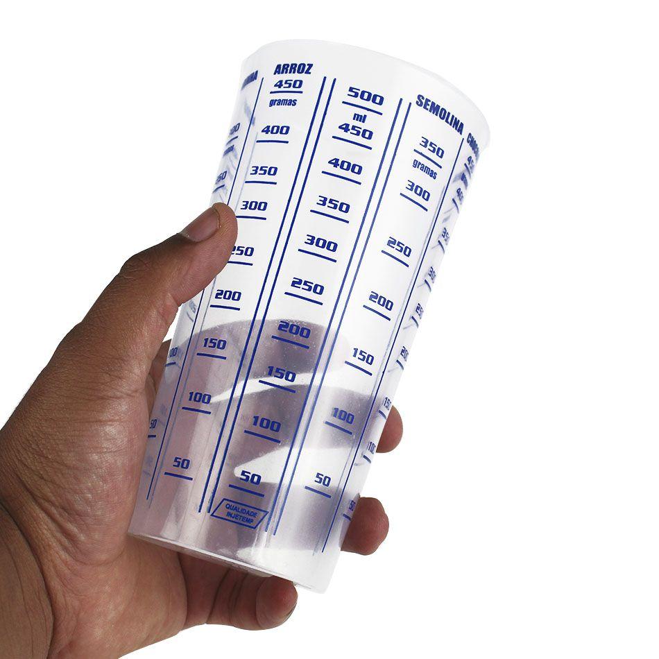 Copo Plástico Graduado dosador 500 ml