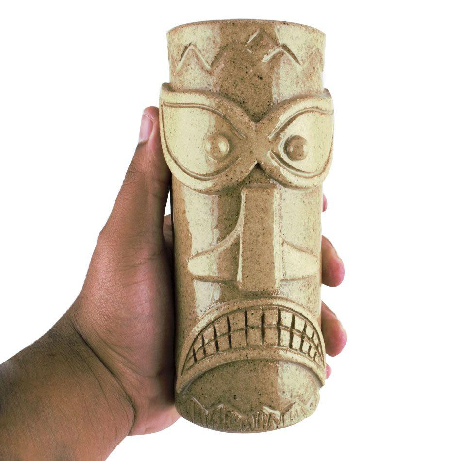 Copo Tiki Mug Areia 300ml Cerâmica