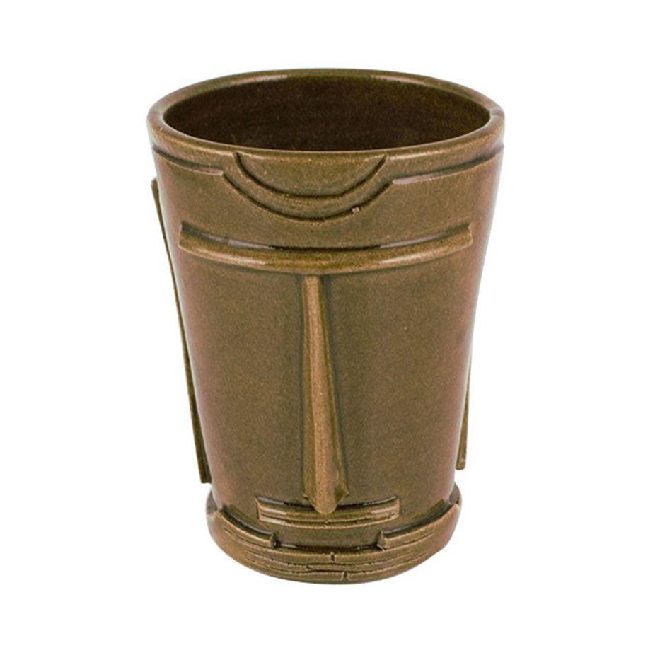 Copo Tiki Mug Marrom Escuro 350ml Cerâmica