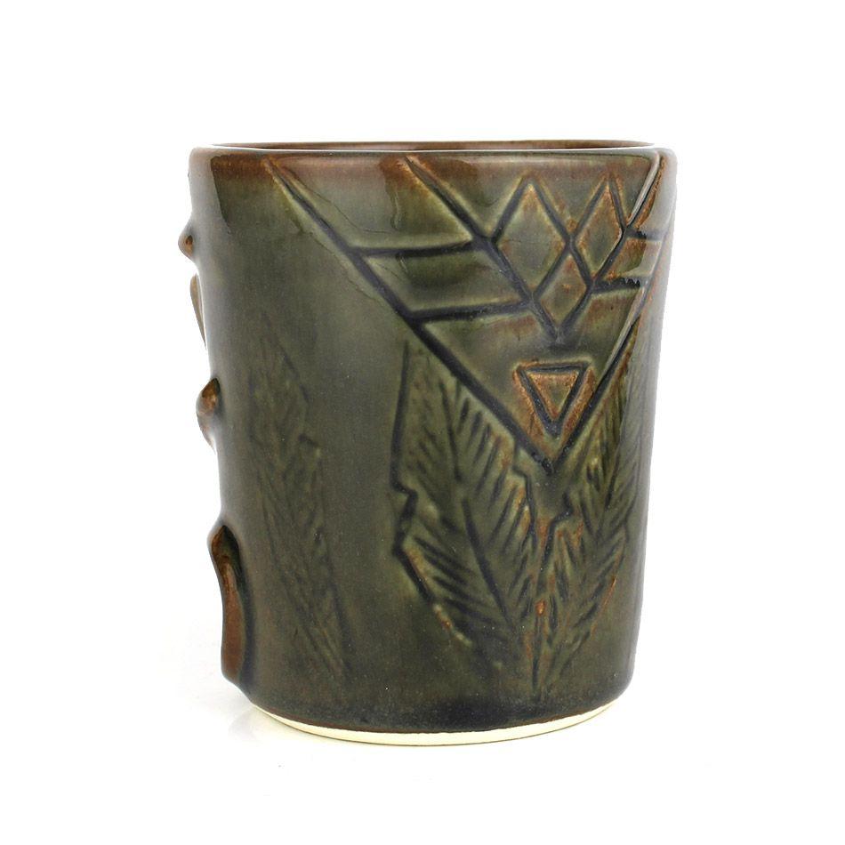 Copo Tiki Mug Soul Pequeno Musgo 250ml Cerâmica