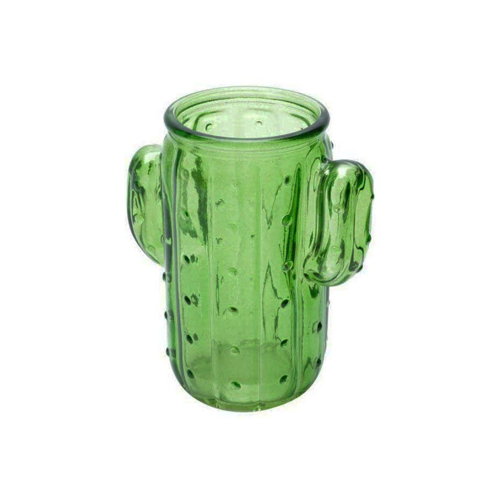 Copo Vidro Cactus 350ml Verde
